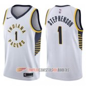 Camiseta Lance Stephenson #1 Indiana Pacers Association 2017-18 Blanco