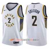 Camiseta Darren Collison #2 Indiana Pacers Association 2017-18 Blanco