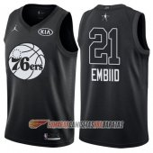 Camiseta Joel Embiid NO 21 All Star 2018 76ers Negro