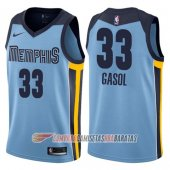 Camiseta Marc Gasol NO 33 Memphis Grizzlies Statement 2017-18 Azul