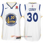 Nike Camiseta Curry #30 Golden State Warriors 2017-18 Blanco
