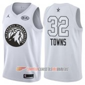 Camiseta Karl-anthony Towns NO 32 All Star 2018 Timberwolves Blanco
