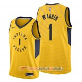 Camiseta T.j. Warren #1 Indiana Pacers Statement Oro