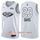 Camiseta Anthony Davis NO 23 NO 23 All Star 2018 Pelicans Blanco