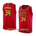 Camiseta Tyler Cavanaugh #34 Atlanta Hawks Statement 2018 Rojo