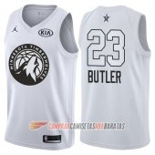 Camiseta Jimmy Butler NO 23 All Star 2018 Timberwolves Blanco
