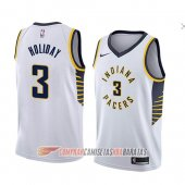 Camiseta Aaron Holiday #3 Indiana Pacers Association 2018 Blanco