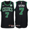 Camiseta Brown #7 Boston Celtics Autentico 2017-18 Negro